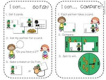 Kindergarten Math Centers ~ St. Patrick's Day 4