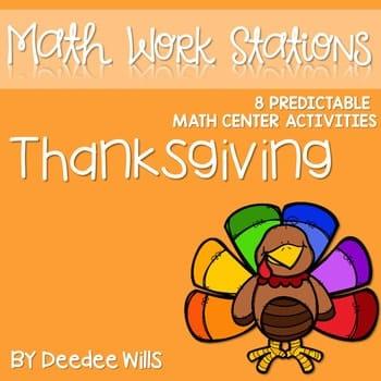 Kindergarten Math Centers ~ Thanksgiving 1