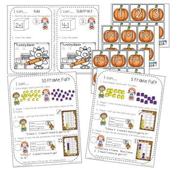 Kindergarten Math Centers ~ Thanksgiving 4