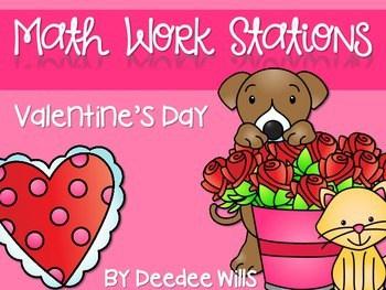 Kindergarten Math Centers ~ Valentine's Day 1