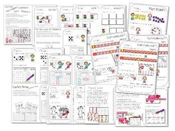 Kindergarten Math Centers ~ Valentine's Day 2