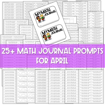 Kindergarten Math Journal Prompts | APRIL 2