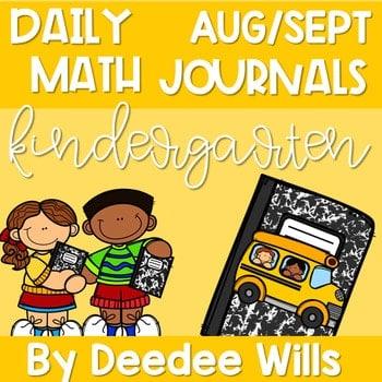 Kindergarten Math Journal Prompts   AUG/SEPT 1