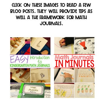Kindergarten Math Journal Prompts   AUG/SEPT 3