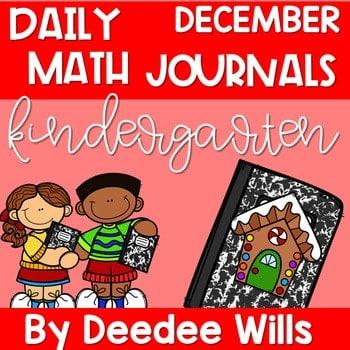 Kindergarten Math Journal Prompts | DECEMBER 1