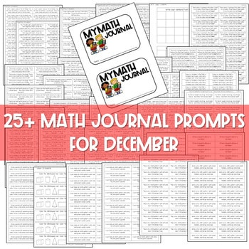Kindergarten Math Journal Prompts | DECEMBER 3