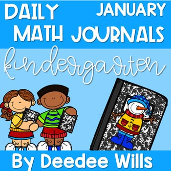 Kindergarten Math Journal Prompts | JANUARY 1