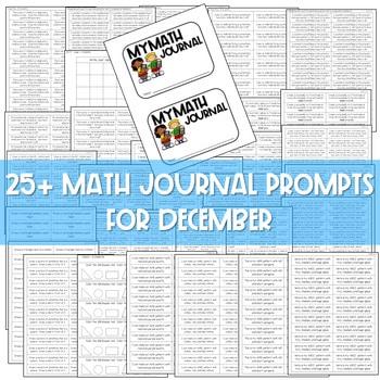 Kindergarten Math Journal Prompts | JANUARY 3