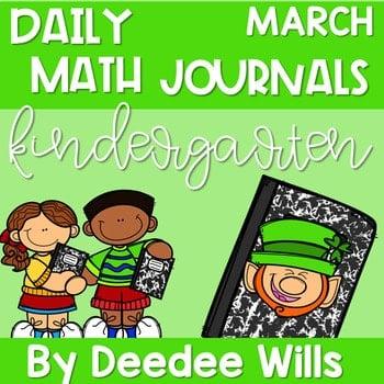 Kindergarten Math Journal Prompts | MARCH 1