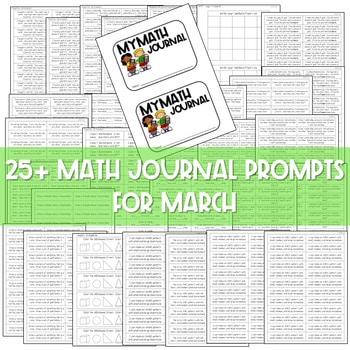 Kindergarten Math Journal Prompts | MARCH 3