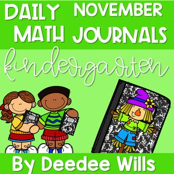 Kindergarten Math Journal Prompts | NOVEMBER 1