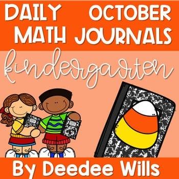 Kindergarten Math Journal Prompts | OCTOBER 1