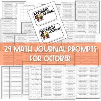 Kindergarten Math Journal Prompts   OCTOBER 3