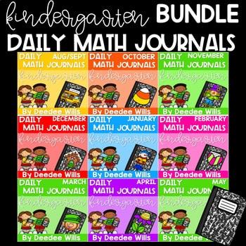 Kindergarten Math Journal Prompts | The BUNDLE 1