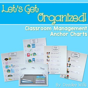 Let's Get Organized! Classroom Management Anchor Charts 1