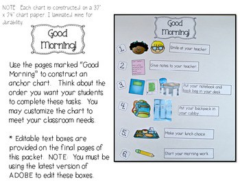 Let's Get Organized! Classroom Management Anchor Charts 2