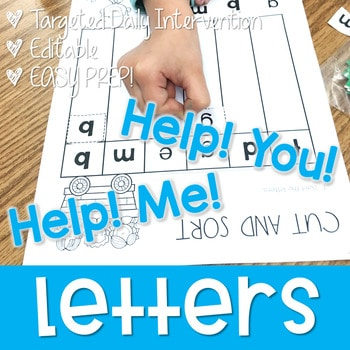 Letter ID intervention ~ Editable! Help Me! Help You! 1