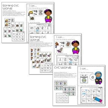 Literacy Centers: CVC Word Families 3