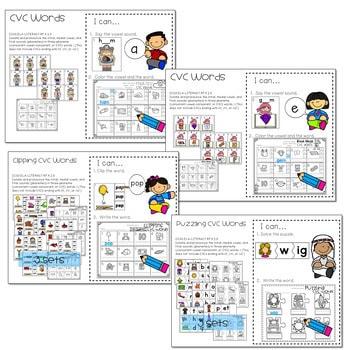 Literacy Centers: CVC Word Families 4