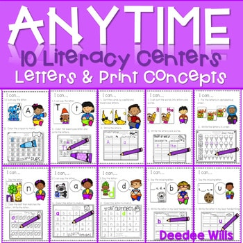 Literacy Centers: Letters and Print Concepts 1