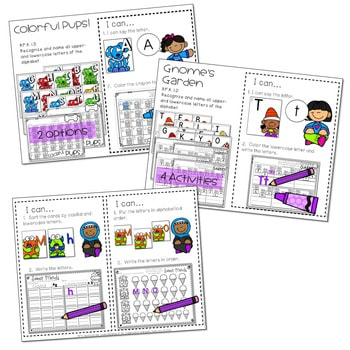 Literacy Centers: Letters and Print Concepts 2
