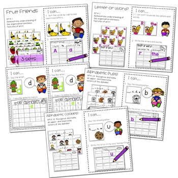 Literacy Centers: Letters and Print Concepts 4