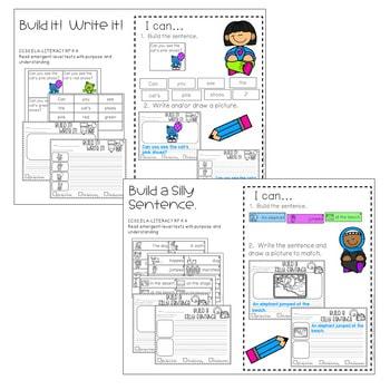 Literacy Centers: Sentences 2