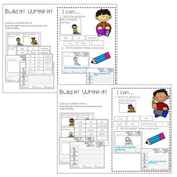 Literacy Centers: Sentences 3
