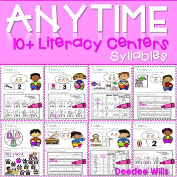 Literacy Centers: Syllables 1