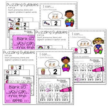 Literacy Centers: Syllables 2