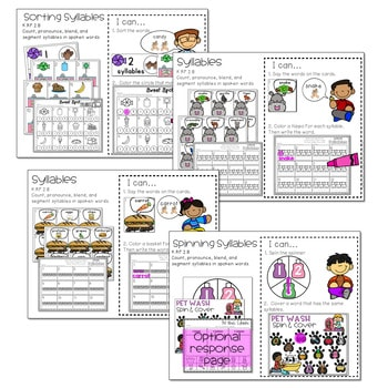 Literacy Centers: Syllables 3