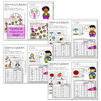 Literacy Centers: Syllables 4