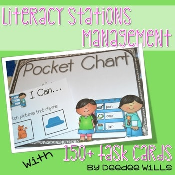 """Literacy Station """"I Can"""" Task Cards 1"""