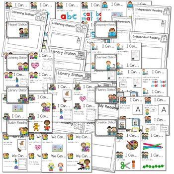 """Literacy Station """"I Can"""" Task Cards 3"""