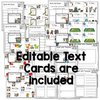 """Literacy Station """"I Can"""" Task Cards 4"""