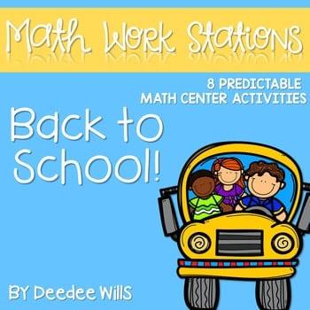 Math Centers for Kindergarten | Back to School 1