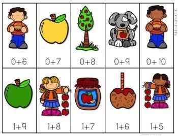 Math Fluency: Apple Days Editable 4