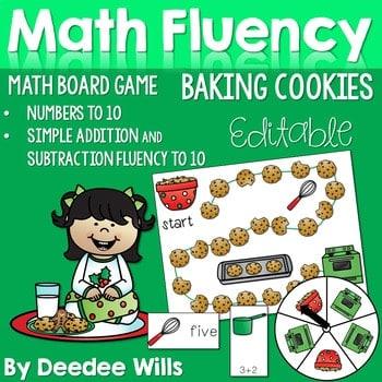Math Fluency: Christmas Cookies Editable 1