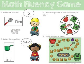 Math Fluency: Christmas Cookies Editable 2