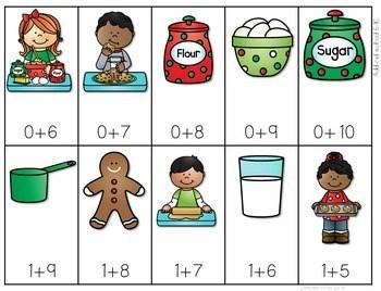 Math Fluency: Christmas Cookies Editable 4