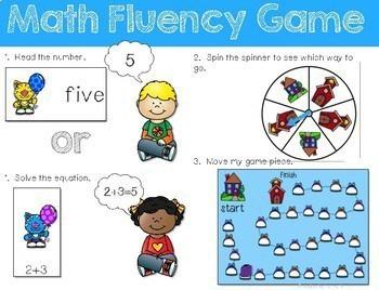 Math Fluency: Cool School Cats Editable 2