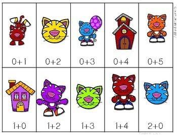 Math Fluency: Cool School Cats Editable 4
