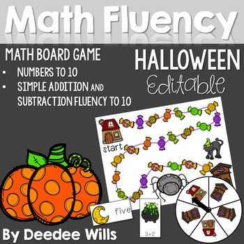 Math Fluency: Halloween editable 1