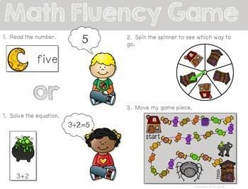 Math Fluency: Halloween editable 2