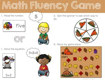 Math Fluency: Harvest Time Editable 2