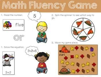 Math Fluency: Harvest Time Editable 2