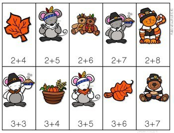 Math Fluency: Harvest Time Editable 4