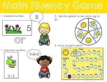Math Fluency: Insect Fun! Editable 2
