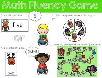 Math Fluency: Reindeer Games Editable 2