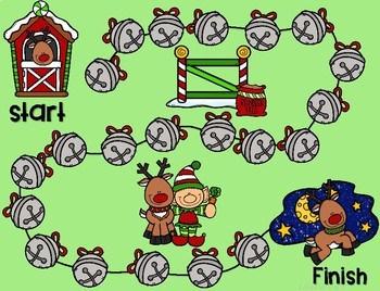 Math Fluency: Reindeer Games Editable 3